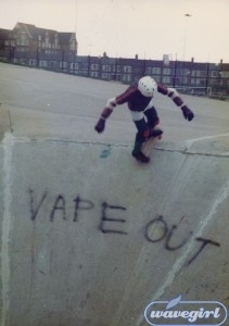 Vape Out! Shane O'Brien tackles the moguls in 1983.